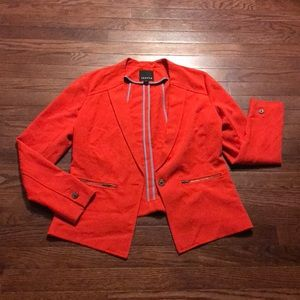 Bright red unlined jacket